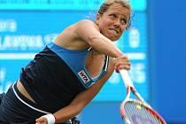 Barbora Záhlavová-Strýcová v semifinále turnaje v Birminghamu.