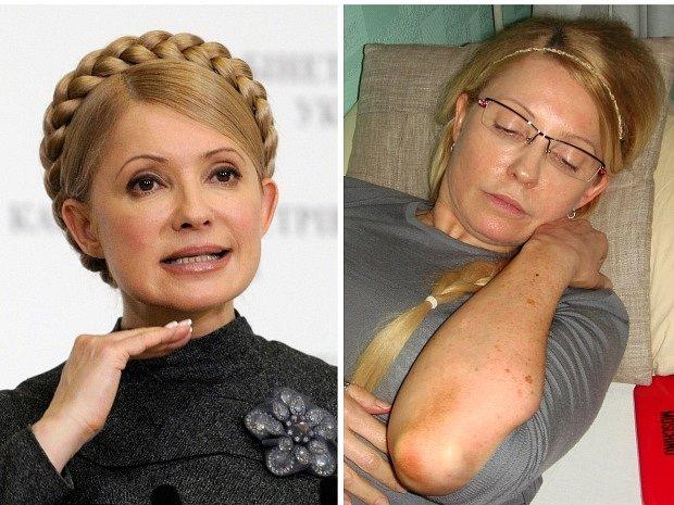 Vězněná ukrajinská expremiérka Julija Tymošenková