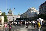 Demonstrace na Václavském náměstí v Praze, 17. 5. 2017