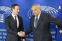 Mark Zuckerberg na půdě Evropského parlamentu