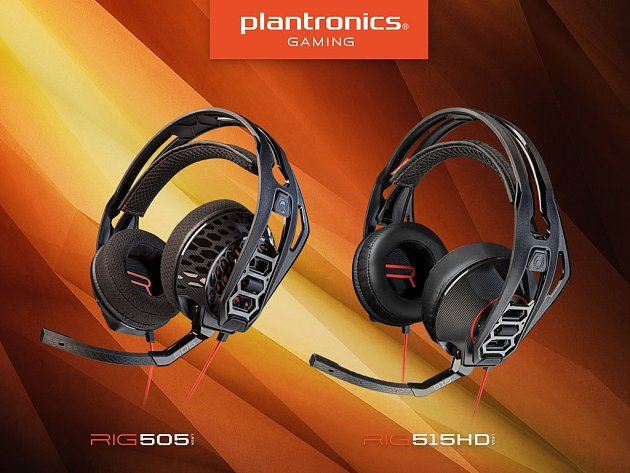 Headsety Plantronics RIG 505 a 515HD.