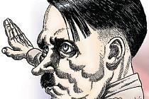 Adolf Hiter - karikatura.