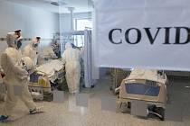 Oddělení pro pacienty s covidem. Ilustrační snímek