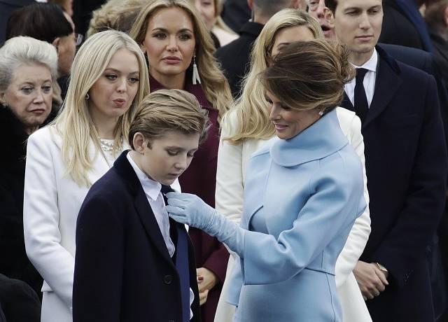Melanie Trumpová se synem Barronem.