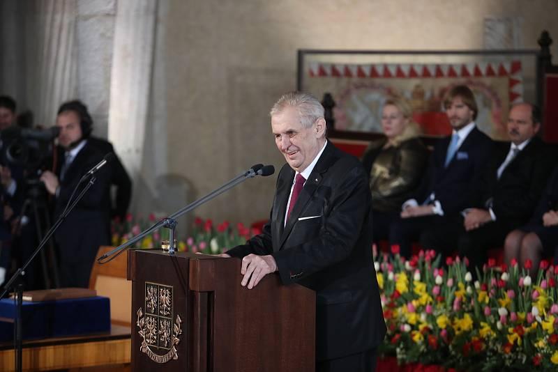Inaugurace Miloše Zemana.