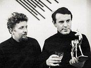 Miloš Forman  s kameramanem Miroslavem Ondříčkem