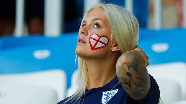 Anglická fanynka. Fotbalové MS Rusko 2018