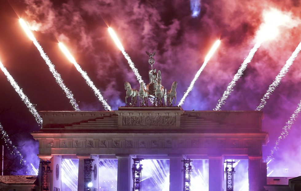 I v Berlíně přivítali rok 2021 ohňostrojem, ovšem bez účasti veřejnosti.