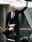 Odlétající Barack Obama
