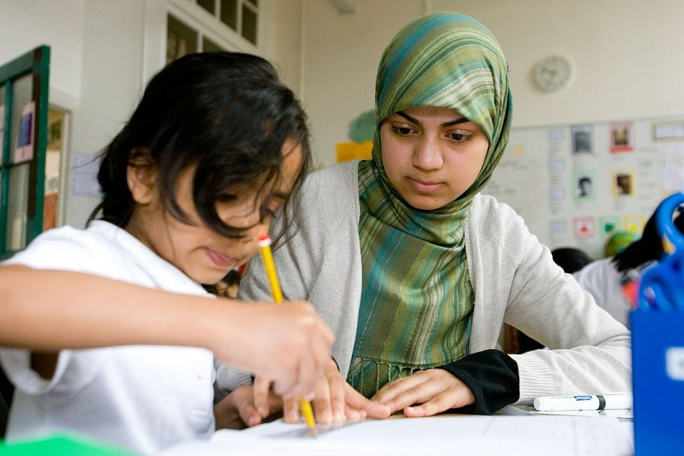Muslimská učitelka, ilustrační foto