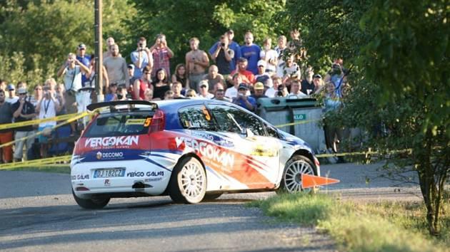 Vedoucí muž Barum rally Zlín Freddy Loix po sobotní úvodní etapě.