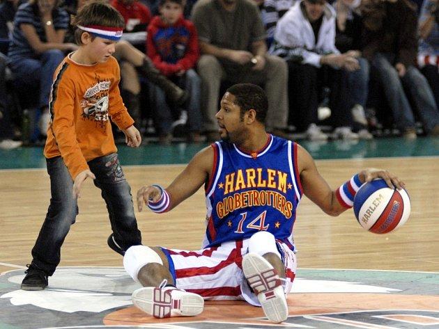 Diváci v Liberci v sobotu viděli basketbalovou exhibici The Original Harlem Globetrotters.