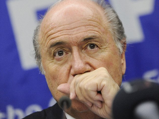 Předseda FIFA Sepp Blatter.