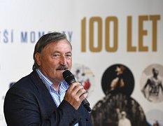Antonín Panenka na tiskové konferenci k projektu Největší momenty 100 let českého sportu.