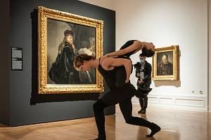 Projekt připravovaný s Baletem Národního divadla - Balet mezi obrazy: Rembrandt a Saskia.