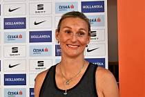 Barbora Špotáková na tiskové konferenci