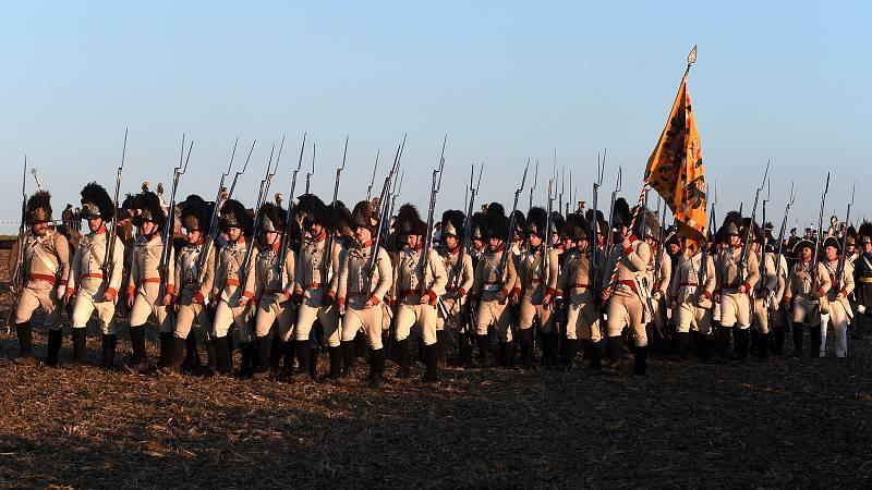 Na francouzské straně stálo od 60 tisíc do 75 tisíc bojovníků, na straně rusko-rakouských vojsk kolem 90 tisíc