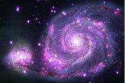 Vírová galaxie zaznamenaná rentgenovým dalekohledem Chandra