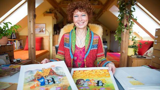 Kateřina Milerová - malířka, ilustrátorka a dcera výtvarníka Zdeňka Milera.