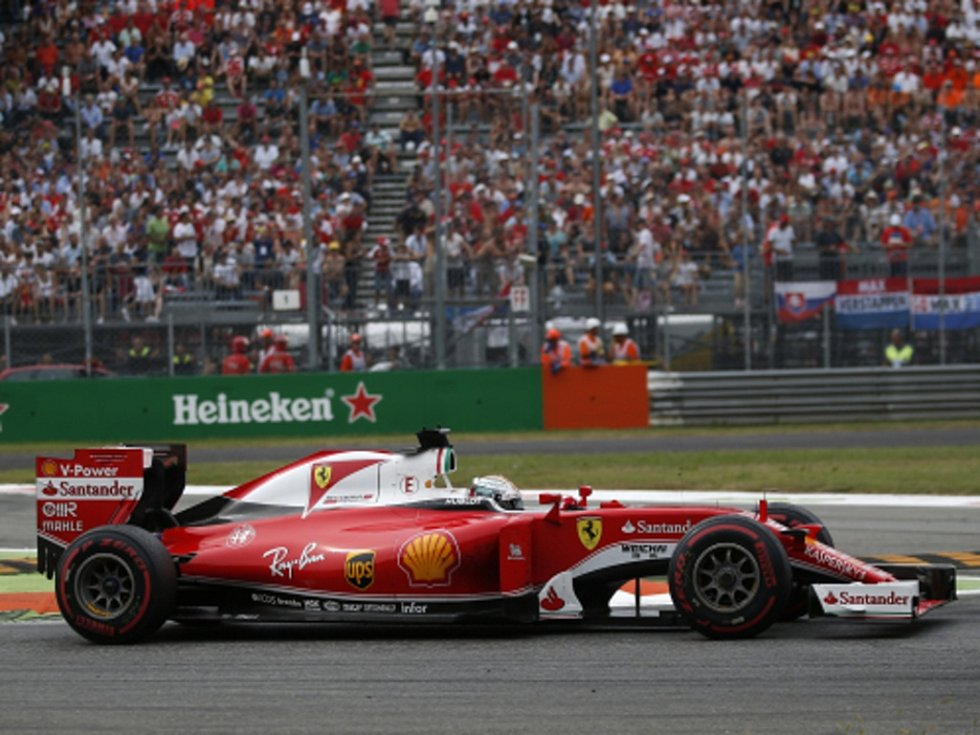 Sebastian Vettel ve Velké ceně Itálie.