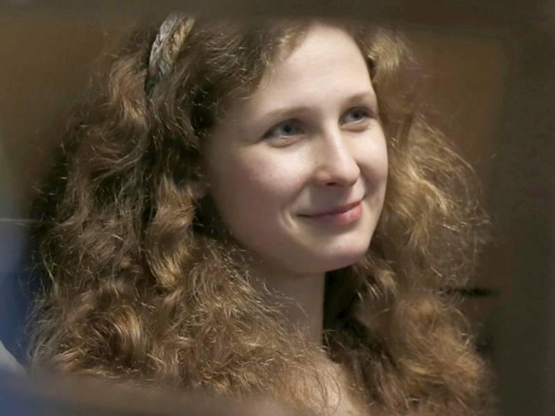 Odsouzená ruská punkerka Marija Aljochinová ze skupiny Pussy Riot.