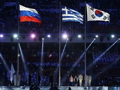 Slavnostní zakončení olympiády v Soči. Ilustrační foto.