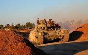 Sýrie. Do města Dará přijíždějí syrské a ruské jednotky.