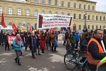 Demonstrace proti bezpečnostní konferenci v Německu