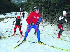 HORNÍ MÍSEČKY. Už koncem října mohli běžkaři vyrazit na oblíbené krkonošské trasy.