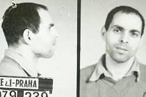 Bývalý politický vězeň Jiří Wolf na fotografii z doby nástupu trestu. Nyní je korunním svědkem v procesu proti Josefu Vondruškovi, bachaři a komunistickém exposlanci. Vondruška je obviněn z týrání politických vězňů.