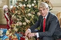 Z natáčení vánočního klipu Davida Deyla v hotelu Pupp