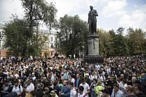 Demonstrace v Moskvě. Ilustrační snímek