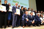 Společné foto oceněných soutěžících