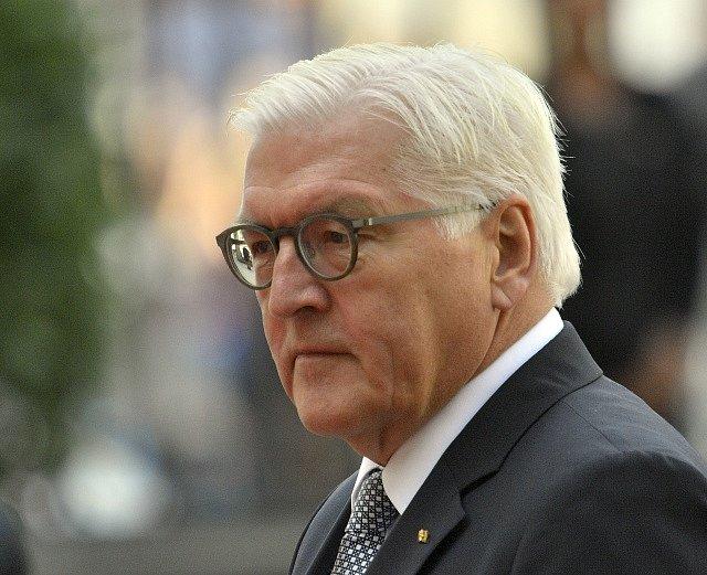 Německý prezident Frank-Walter Steinmeier při své první oficiální návštěvě Česka..