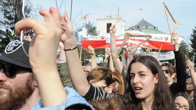 Demonstrace ve Varšavě. Ilustrační foto.