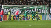 Zápas fotbalové Fortuna ligy - Bohemians Praha 1905 a FC Viktoria Plzeň. Stadion Ďolíček 19.říjen.