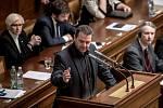 Jednání Sněmovny o žádost o vyslovení souhlasu s trestním stíhání poslanců Andrej Babiš a Jaroslava Faltýnka 19. ledna v Praze. Ondráček