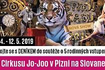 Zapojte se s DENÍKEM do soutěže o 5 rodinných vstupenek do Cirkusu Jo-Joo v Plzni na Slovanech.