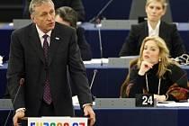 Mirek Topolánek v Evropském parlamentu ve Štrasburku.