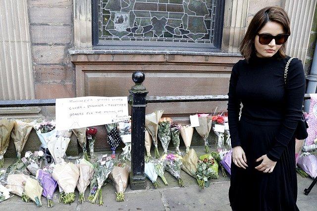 Místo incidentu v Manchesteru