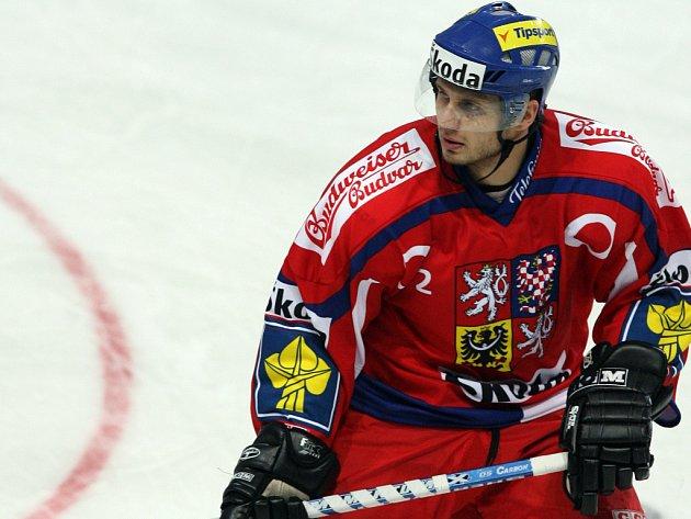 Hokejista Pavel Brendl v národním dresu.