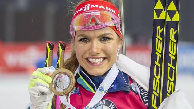 Gabriela Koukalová se divákům v Novém Městě odvděčila zlatem.
