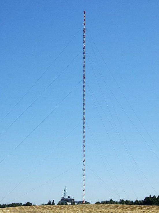 Stožár vysílače Krašov - západní pohled
