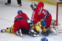 Gólman české hokejové reprezentace Tomáš Pöpperle patřil mezi největší postavy duelu proti Švédsku.