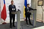 Ministři zahraničí Česka a Ukrajiny Tomáš Petříček a Pavlo Klimkin