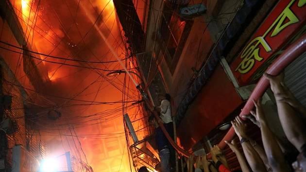 Požár v Bangladéši