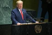 Americký prezident Donald Trump na Valném shromážděním OSN
