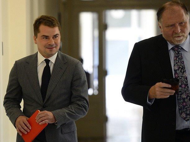 Marek Dalík a jeho advokát Tomáš Sokol.