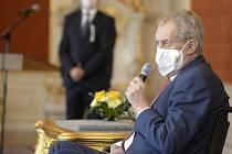 Prezident Miloš Zeman (na snímku z 28. dubna 2021)