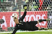 Manuel Neuer při penaltovém rozstřelu.